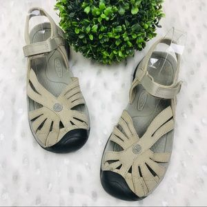 KEEN Women's Rose Sandals Brindle Shitake Gray